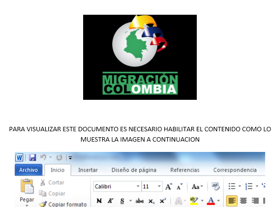 Figure 5. Delivery document purports to come from Migración Colombia, a government website for the Colombian migration authority
